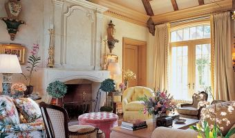 stone masonry fireplace