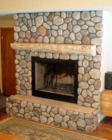 Stone or Rock Fireplace Designs Rustic Casual.