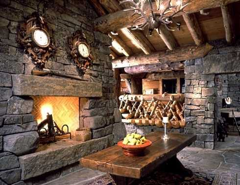 Stacked Stone Fireplace Pictures . . . HIGH and DRY!
