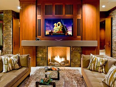 TV Over Fireplace Ideas An Overview Of Options - Tv above fireplace pictures ideas