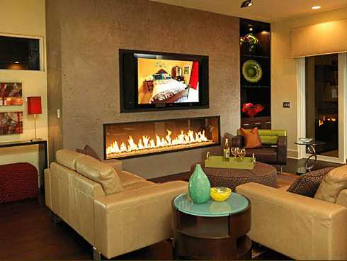 Gallery For Electric Fireplace Mantels With Tv Above