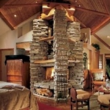 unique stone fireplaces