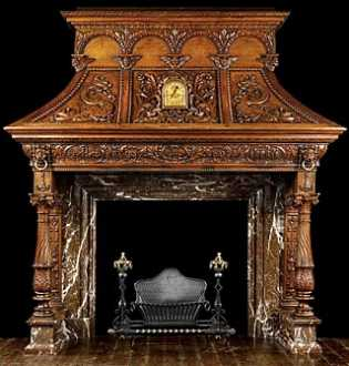 Westland London Extraordinary Antique Fireplace Mantels
