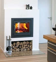 Wood fireplace inserts extremely effective efficient for Modern wood burning insert