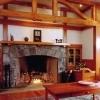 wood fireplace mantel shelves