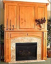 wood fireplace mantels