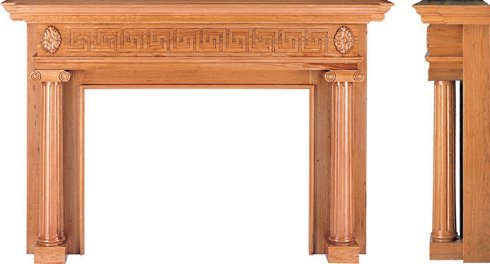 wood fireplace surround