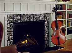 arts and crafts fireplace