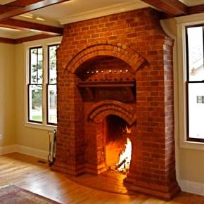 The Finely Crafted Brick FireplaceBlending Past And Present