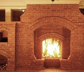 brick fireplaces