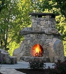 build a stone fireplace