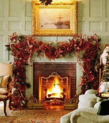 christmas fireplaces