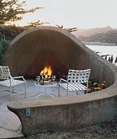 Standout Concrete Outdoor Fireplace Designs