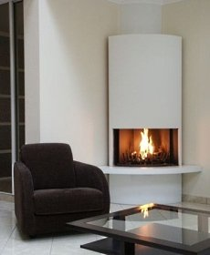 corner fireplace for gas