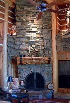 The Country Stone Corner Fireplace Cozy Casual