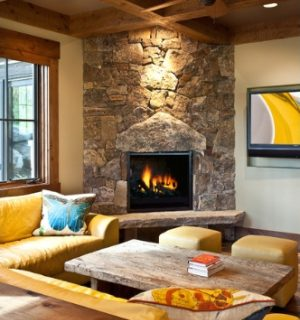 Corner stone fireplace designs cornering the market Corner rock fireplace designs