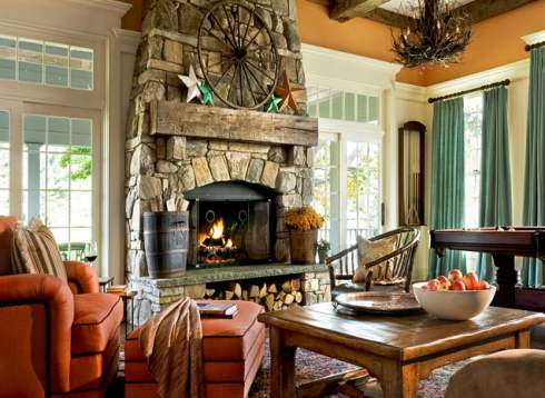 country cottage fireplace
