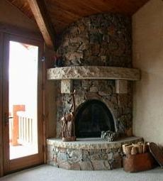 country stone fireplaces