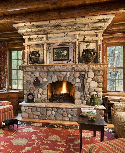 Adirondack Style fireplace