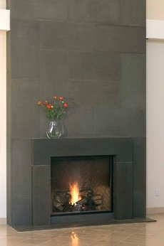 More Custom Stone Faux Fireplaces