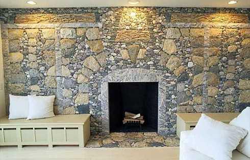 fieldstone fireplace white shelves | Favorite Field Stone Fireplace Designs . . . Fields Of Dreams!