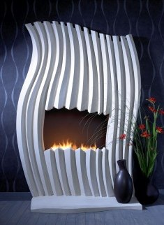 whimsical fireplace