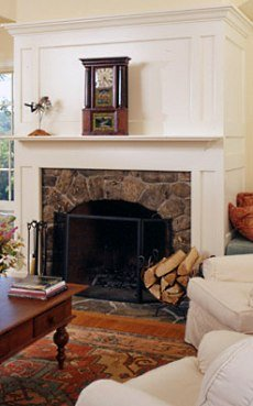 Wood Fireplace Surround Design More Country Casual