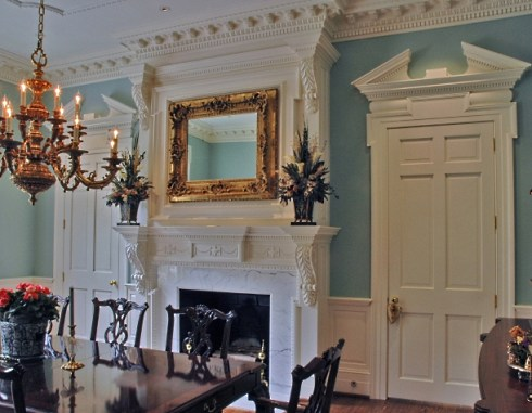 Library Fireplace Surround Designs by Harrison Design Associates