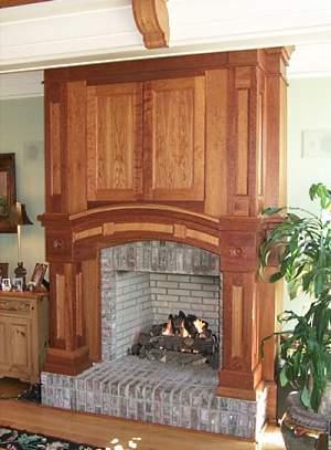 flat screen tv over fireplace