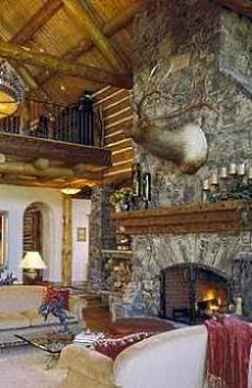 log home fireplaces