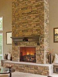 Manufactured stone fireplace photo gallery of ideas for Stonecraft fireplaces