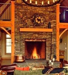 masonry fireplace