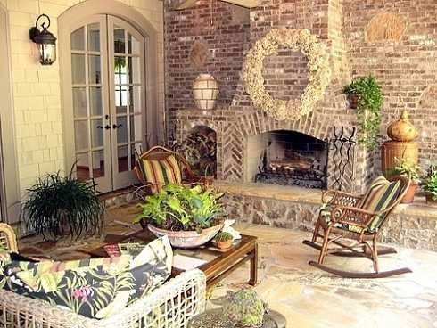 Standout Outdoor Brick FireplacesDelectable Decorative