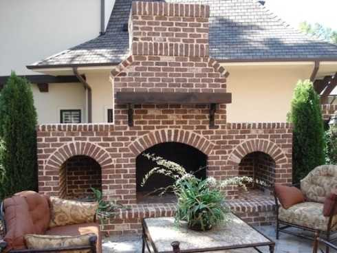 Standout Outdoor Brick Fireplaces...Delectable Decorative ... on Brick Outdoor Fireplace Ideas id=78805