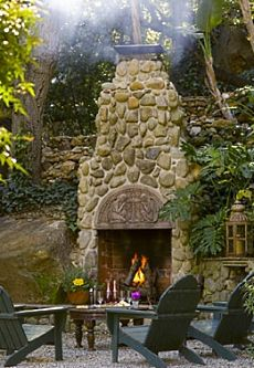 Outdoor Masonry Fireplace Designs . . . Real Long-Term Value!