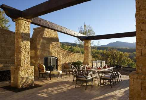 outdoor stone fireplace designs