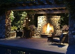 standout patio pergola designs for outdoor fireplaces