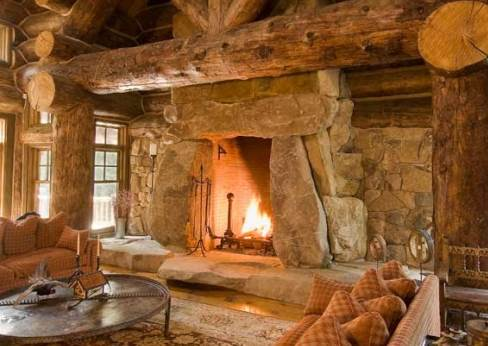 Photos of fireplaces a host of heartwarming hearths for Cabin fireplace pictures