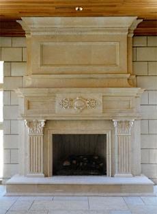 photos of stone fireplaces