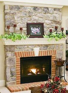 pictures of stone fireplaces