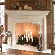 precast stone fireplace