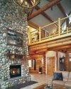 river rock fireplace designs