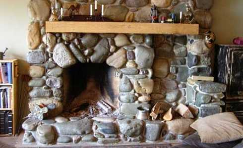 Standout River Rock Fireplaces Cottage Cuties