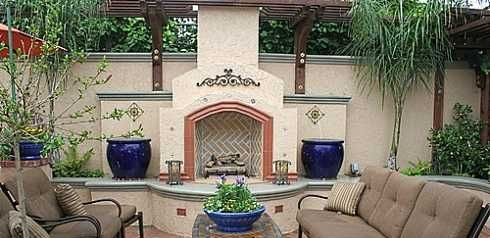 The spanish style fireplace a rich colorful heritage for Spanish outdoor fireplace
