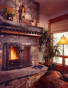 stacked stone fireplace pictures