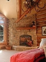 stone corner fireplaces