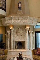 stone corner fireplaces