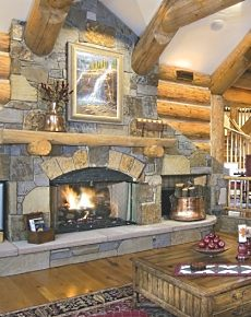 stone fireplace designs pictures
