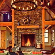 stone fireplace designs