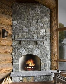 Extraordinary Stone Fireplace Hearth Designs